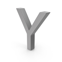 Letter Y Grey PNG & PSD Images