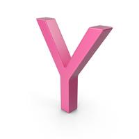 Letter Y Pink PNG & PSD Images