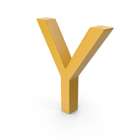 Letter Y Yellow PNG & PSD Images
