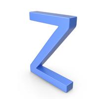 Letter Z Blue PNG & PSD Images