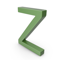 Letter Z Green PNG & PSD Images