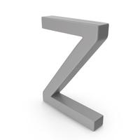 Letter Z Grey PNG & PSD Images