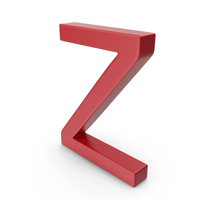 Letter Z Red PNG & PSD Images