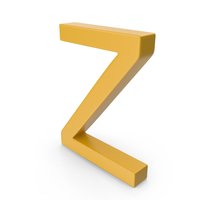 Letter Z Yellow PNG & PSD Images