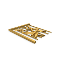 Gold Symbol Graph Chart PNG & PSD Images