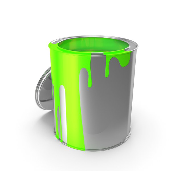 Green Paint Can PNG & PSD Images