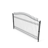 Forged Metal Fence Segment PNG & PSD Images