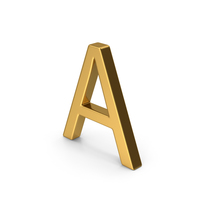 A Letter Gold PNG & PSD Images