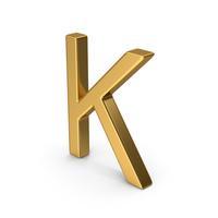 K Letter Gold PNG & PSD Images