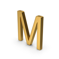 M Letter Gold PNG & PSD Images