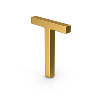T Letter Gold PNG & PSD Images
