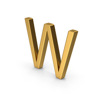W Letter Gold PNG & PSD Images