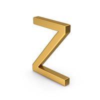Z Letter Gold PNG & PSD Images