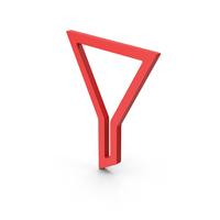 Symbol Funnel Red PNG & PSD Images