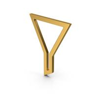 Symbol Funnel Gold PNG & PSD Images