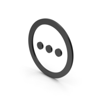Symbol Three Dots Black PNG & PSD Images