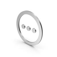 Symbol Three Dots Silver PNG & PSD Images
