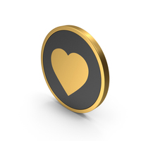 Gold Icon Heart PNG & PSD Images