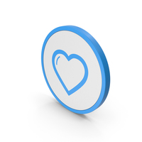 Icon Heart Blue PNG & PSD Images