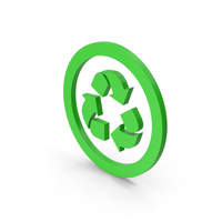 Symbol Recycle Logo Green PNG & PSD Images