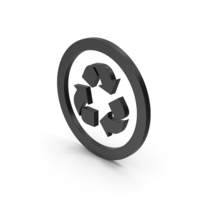 Symbol Recycle Logo Black PNG & PSD Images