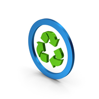 Recycle Logo Green Blue Metallic PNG & PSD Images