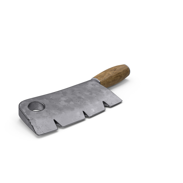 Stylized Cleaver on Floor PNG & PSD Images