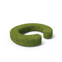 Grass Capital Letter C Top View PNG & PSD Images