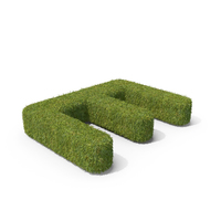 Grass Capital Top View Letter E PNG & PSD Images