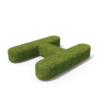Grass Capital Top View Letter H PNG & PSD Images
