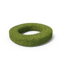 Grass Capital Top View Letter O PNG & PSD Images