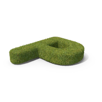 Grass Capital Letter P Top View PNG & PSD Images