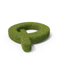 Grass Capital Letter Q PNG & PSD Images