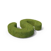 Grass Capital Letter S Top View PNG & PSD Images