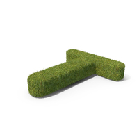 Grass Capital Letter T Top View PNG & PSD Images