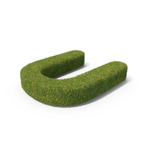 Grass Capital Letter U PNG & PSD Images