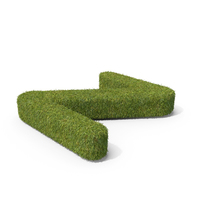 Grass Capital Top View Letter Z PNG & PSD Images