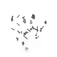 Black Music Note Keys PNG & PSD Images