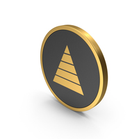 Gold Icon Pyramid Graph PNG & PSD Images