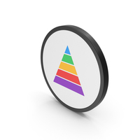 Icon Pyramid Graph Colored PNG & PSD Images