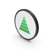 Icon Pyramid Graph Green PNG & PSD Images