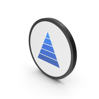 Icon Pyramid Graph Blue PNG & PSD Images