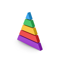 Symbol Pyramid Graph Colored PNG & PSD Images