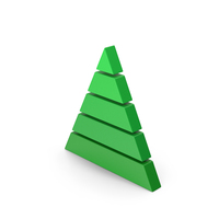 Symbol Pyramid Graph Green PNG & PSD Images