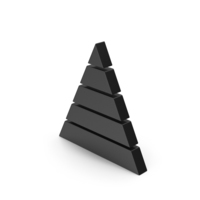 Symbol Pyramid Graph Black PNG & PSD Images