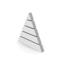 Symbol Pyramid Graph White PNG & PSD Images