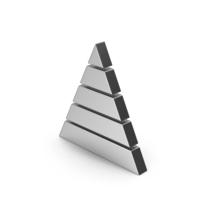 Symbol Pyramid Graph Silver PNG & PSD Images