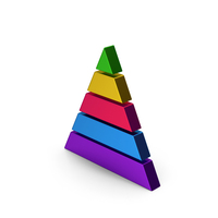 Pyramid Graph Colored Metallic PNG & PSD Images