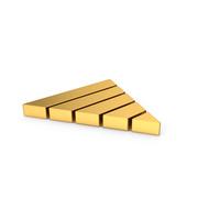 Gold Symbol Pyramid Graph PNG & PSD Images