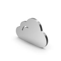 Symbol Cloud Silver PNG & PSD Images